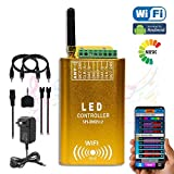 LED Wi-Fi Android Addressable Music Spectrum Controller Kit, Built in 2x2048 Pixels, 252 Color Chasing Modes Support WS2801 WS2811 WS2812B UCS1903 TM1812 DMX512 Addressable LED Strip Light (Color: Copper)