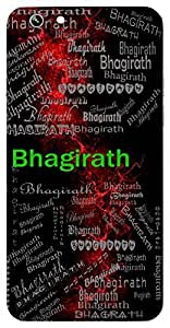 Bhagirath (One Who Brought Ganga On Earth) Name & Sign Printed All over customize & Personalized!! Protective back cover for your Smart Phone : Apple iPhone 5/5S