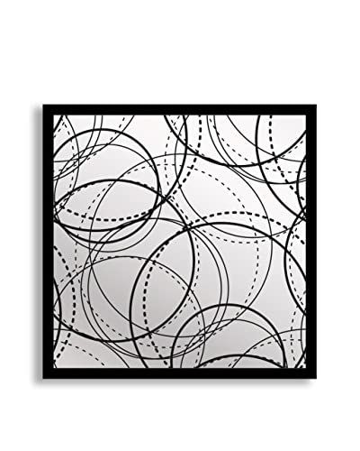 "Gallery Direct Circles Print on Mirror, Multi, 16"" x 16"""