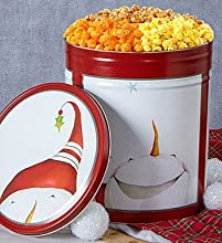 Christmas Peek-A-Boo Snowman Popcorn Tins - 6-12 Gallon 3-Flavor