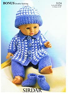 Sirdar Knitting Patterns For Dolls Clothes : Sirdar 3124 Bonus Double Knitting Dolls Clothes Pattern ...