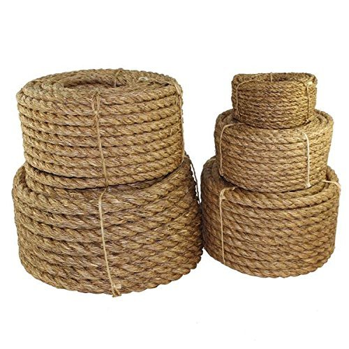Landscaping Natural Thick Hemp Rope for Nautical Home Decorating 1 in x 100 ft Twisted Manila Rope Jute Rope Hammock Railings