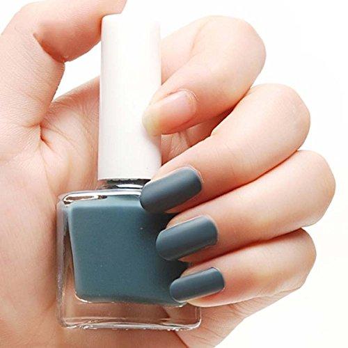 Nail Polish - BGIRL Women Girl Matte Nail Polish Nail Art 12ML 1pcs 01# Dark Grey (Matte Polish compare prices)