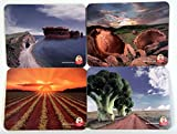 Set of 4 Toby Carvery Printed Placemat Table Mats, Gateaux, Yorkshire Puddings, Carrot Sunrise, Broccoli
