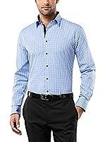 Vincenzo Boretti Camisa Hombre (Azul / Blanco)