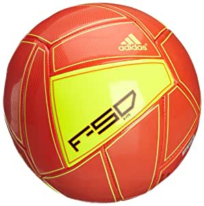 Adidas ballon de football f 50 x-ite 5 Orange - Motif High Energy S12/rouge/noir