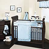 Lambs And Ivy 4 Piece Baby Crib Bedding Set In Classic Blue