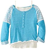 Beautees Girls 7-16 Lace Trim Pullover Sweatshirt with Tank