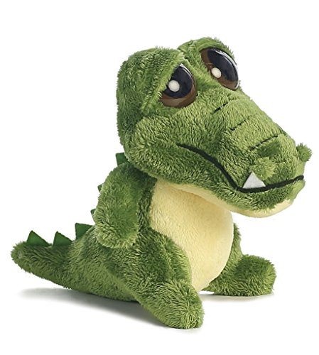 Aurora World Dreamy Eyes Green Gator with Bubble Sound Plush