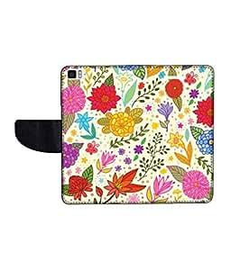KolorEdge Printed Flip Cover For Redmi Xiaomi MI3 Multicolor -(50KeMLogo12044XiaomiMI3)