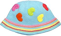 snuggleheads Baby Girls' Sweet Hearts Knit Hat 1-4 Year Baby Blue