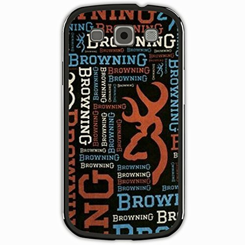 Diy Samsung Galaxy S3 Case Customize Unique Personalized Gift Back Cover Design Pop browning deer antlers logo bucks and doe letters design Black