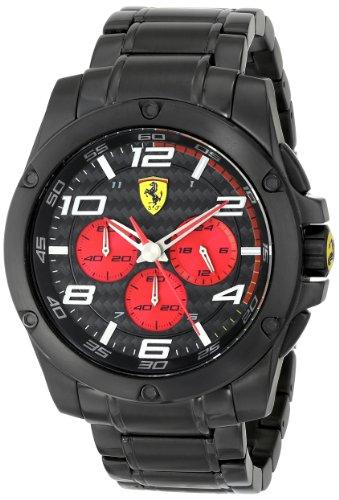 Ferrari  830037 - Reloj de cuarzo para hombre, con correa de acero inoxidable, color negro
