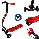 FASCOL� Twist & Roll Patinete 3 ruedas para ni�os,mini micro patinetes freestyle scooter con Freno individual y PU ruedas in Negro