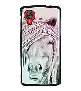 White Horse 2D Hard Polycarbonate Designer Back Case Cover for LG Nexus 5 :: LG Google Nexus 5