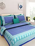 Kismat Collection Elegant Designer Cotton Printed Double Bed Size Bedsheet With 2 Pillow Cover