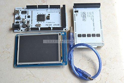 """Mega2560 Atmega2560-16Au+3.2"""" Tft Lcd Shield+Touch Screen Sd Reader For Arduino"""