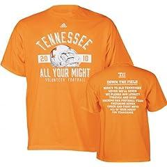 Buy NCAA adidas Tennessee Volunteers Tennessee Orange 2010 Power T-shirt by adidas