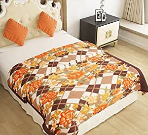 Home Candy Warm and Soft Comfortable Polyester Double Bed Blanket - Multicolor (NKM-BLN-122)