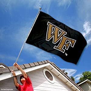 Buy Wake Forest Demon Deacons Black Flag by College Flags and Banners Co.