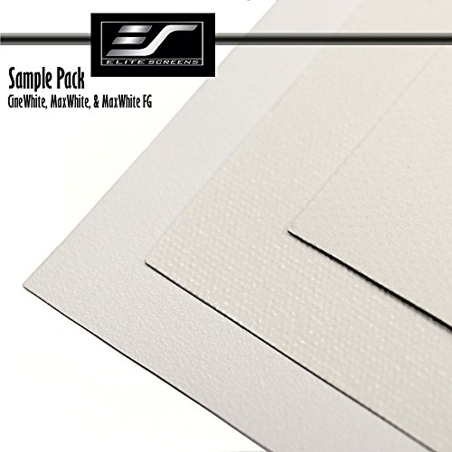 Great Deal! Elite Screens WHITE Projection Screen Material Sample Pack Includes 3 Samples. SamplePack3W