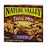 Nature Valley Chewy Trail Mix Bars, Fruit and Nut, 6 - 1.2 Ounce Bars (Pack of 12)