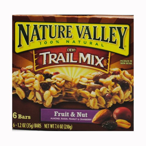 Nature Valley Chewy Trail Mix Bars, Fruit and Nut, 6 - 1.2 Ounce Bars ...