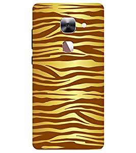 Chiraiyaa Designer Printed Premium Back Cover Case for Letv Le 2 (tiger texture pattern) (Multicolor)