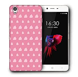 Snoogg Pink Clouds Printed Protective Phone Back Case Cover For OnePlus X / 1+X