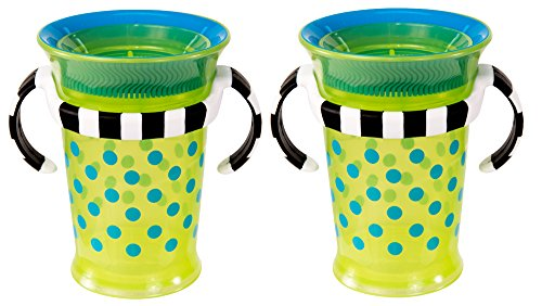 Sassy Grow Up Cup , Blue/Green, 7 Ounce, 2-Count