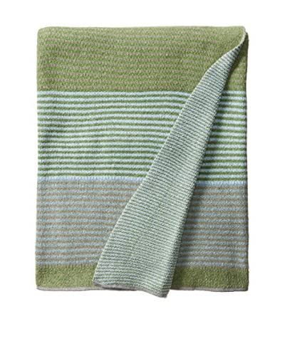 bambeco Recycled Cotton Throw/Blanket, Green