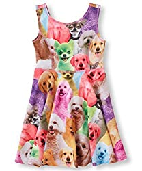 Little Girl's Classical Printed Sleeveless Summer Dress