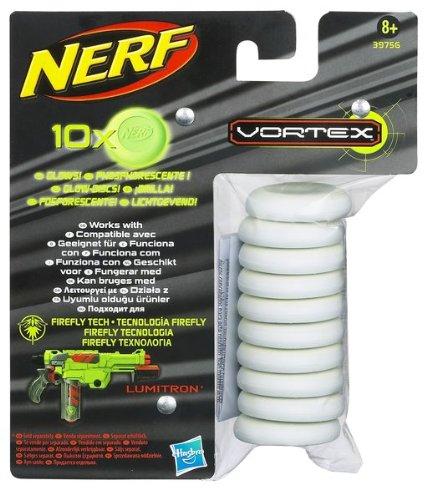 Hasbro - NERF Vortex Ammo pack 10 recharges phosphorescentes