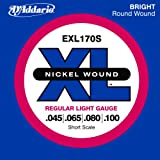 D'Addario Bass Strings Set Xl, 45-100, Short Scale