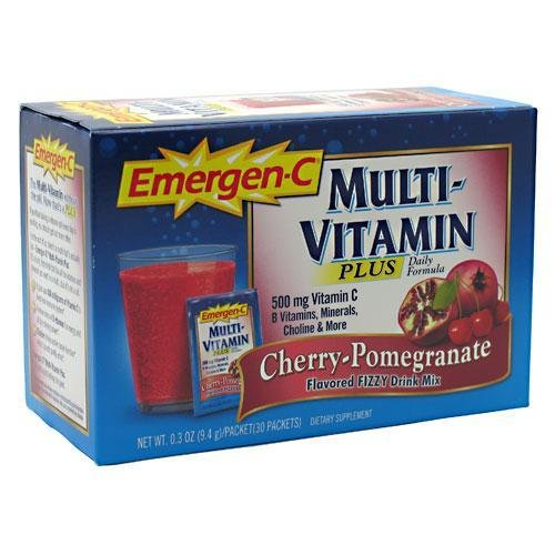 Emergen-C Multi-Vitamin Cherry-Pomegranate Flavored FIZZY Drink Mix, 30 packets