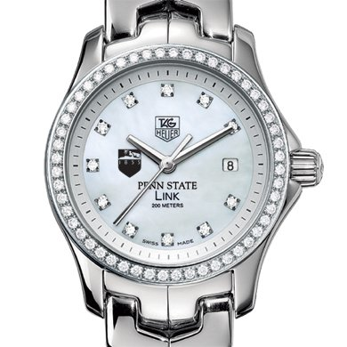 Penn State Women's TAG Heuer Link with Diamond Bezel