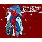 Youareking&reg Spiderman PVC Mural Art Wall Paper Stickers Wall Sticker Decal Children Bedroom Background Decoration (A Style)