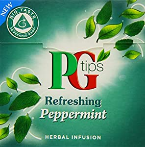 PG tips Peppermint Pyramid Tea Bags 22 g (Pack of 4, Total 80 Tea Bags)