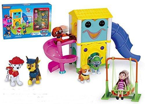 Nickelodeon Paw Patrol Slide Amusement Park With 4 Little Figure