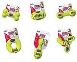 KONG Air Dog Squeaker Bone Dog Toy, Medium, Yellow