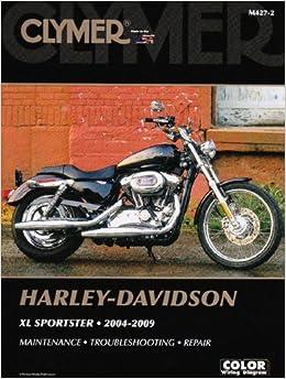 clymer harley davidson xl sportster 2004 2009 clymer. Black Bedroom Furniture Sets. Home Design Ideas