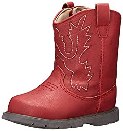 Baby Deer Western Boot (Infant/Toddler),Red,3 M US Infant