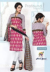Balaji Fashion Women's cottan print suit D.NO7013_Multi-Coloured