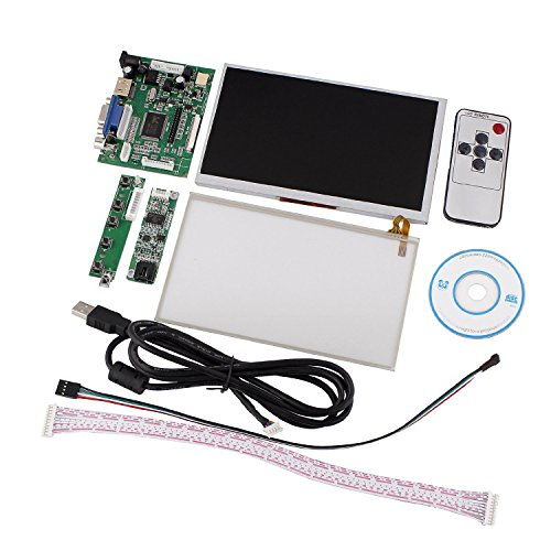 "Tontec 7"" Raspberry Pi Lcd Touch Screen Display Tft Monitor At070Tn90 With Touchscreen Kit Hdmi Vga Input Driver Board"