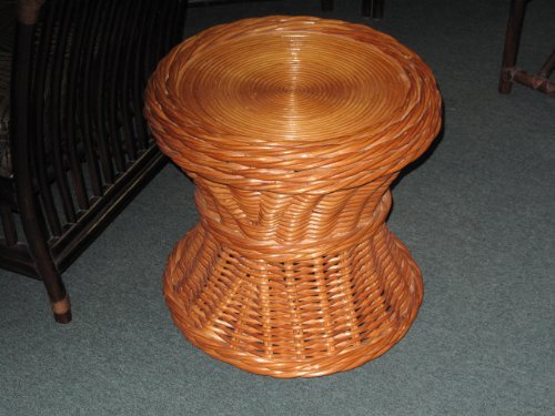 Honey Rattan Wicker End Side Table