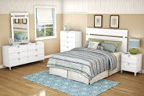 Hot Sale South Shore Spark Collection 6-Drawer Double Dresser, Pure White