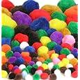100pk Fluffy Pom-Poms