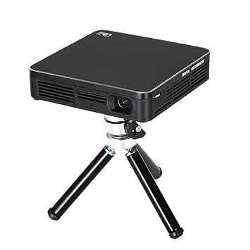 Andoer HDP200 DLP LED Projecteur HD 1080p 80 Lumens 1000: 1 Rapport de Contraste WiFi Miracast Airplay HDMI Trépied pour Téléphones Notebook Tablet STB Joueur de Jeu Appareil Photo Numérique EU Plug
