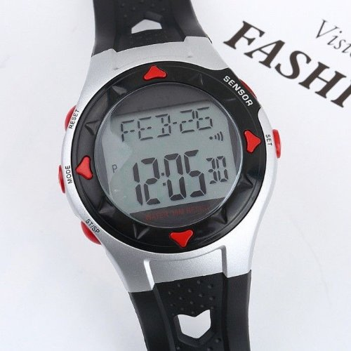 Waterproof Pulse Heart Rate Monitor Watch Calorie Counter Sport Exercise HMY multifunction pulse heart rate calorie wrist watch silver black
