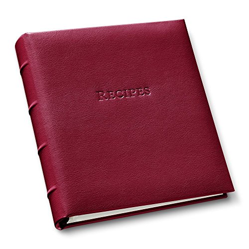 Gallery Leather Recipe Organizer Camden Red (Stand Up Recipe Holder compare prices)